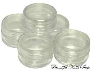 5 x 3g EMPTY NAIL ART JAR